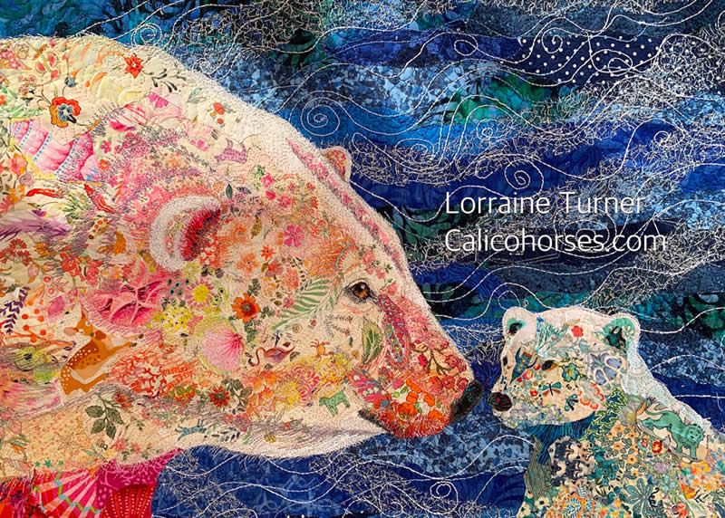 """Fabric Collage Webinar """"Rise and Shine"""""""