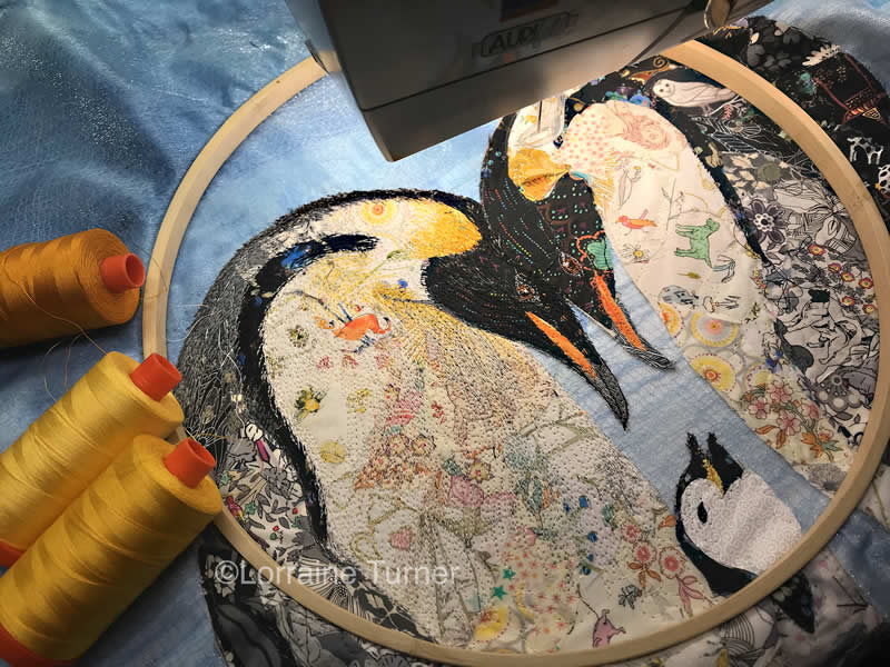 Fabric Collage-Thread Painting Part 6